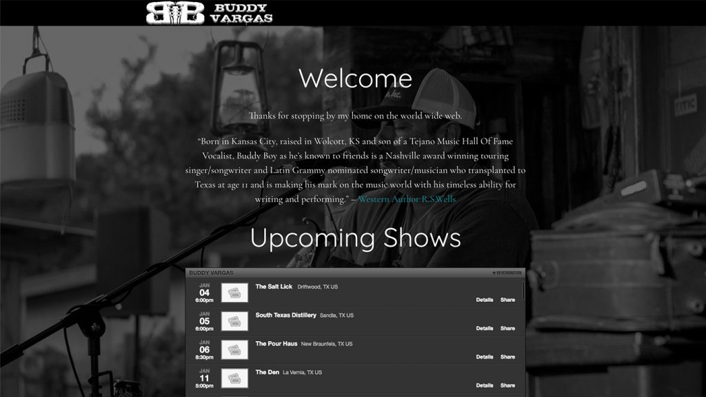 Home page of buddyvargas.com